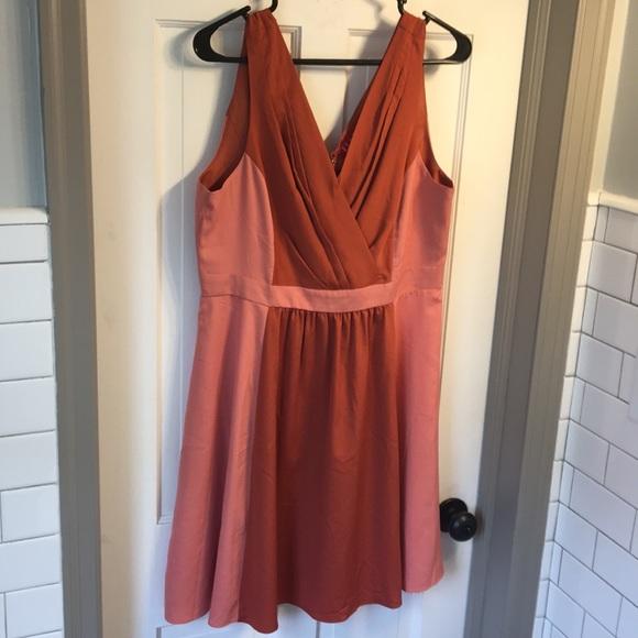 3508979adf451 Elle Dresses | Light And Dark Coral Colored Summer Dress | Poshmark